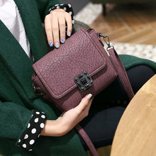 New Arrival Summer And Spring Vintange Nubuck Leather Women Crossbody Bag Fashion Lock Women Bag Candy Color  Shoulder Bag