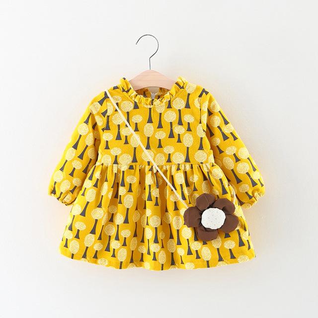 Niñas de algodón dress 2017 primavera marca estilo casual ropa de las muchachas vestidos niños ropa para niños ropa de manga larga