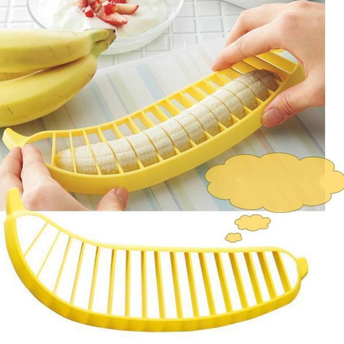 Útil 1 Unid Práctico Ensalada de Plátano Slicer Cortador Chopper Fruit Vegetable