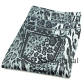 HOT 1pcs New Girls Sexy Thin Gray Leopard Print Soft Stretch Pants Women Gray Leopard Nine Points Leggings