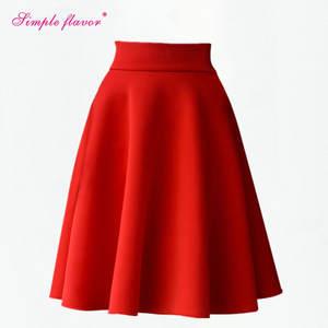 Tienda Online De cintura alta para mujeres Tutu falda elegante falda de la  rodilla-longitud Rosa Midi falda mujeres falda Jupe Faldas para mujeres  Plus ... bbdcc1d2be53