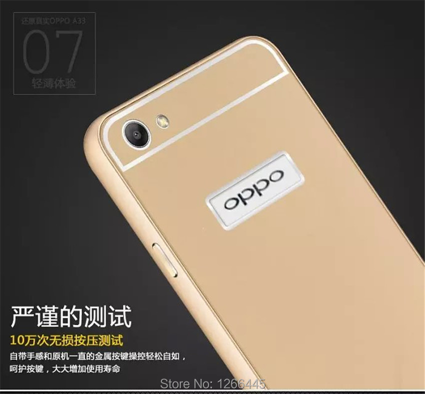 new product b52b7 08840 US $7.99 |OPPO A33 Metal Aluminum Acrylic Hard PC Back Case For OPPO A33  A33W A33F A33T Luxury Cover Shockproof on Aliexpress.com | Alibaba Group