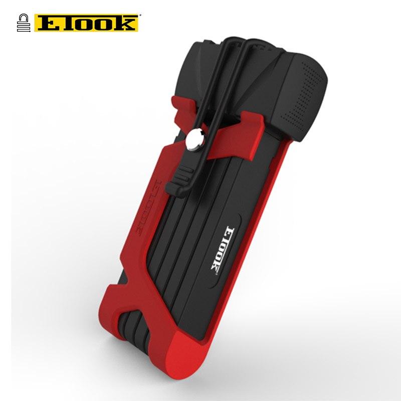 ETOOK Strong Folding Lock For Bicycle Eletronic Bike Motorcycle MTB Mountain Road Bike Strong Folding Anti