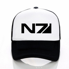 Mass Effect N7 cap  Men Systems Alliance Military Emblem Game Tee baseball summer mesh trucker hat