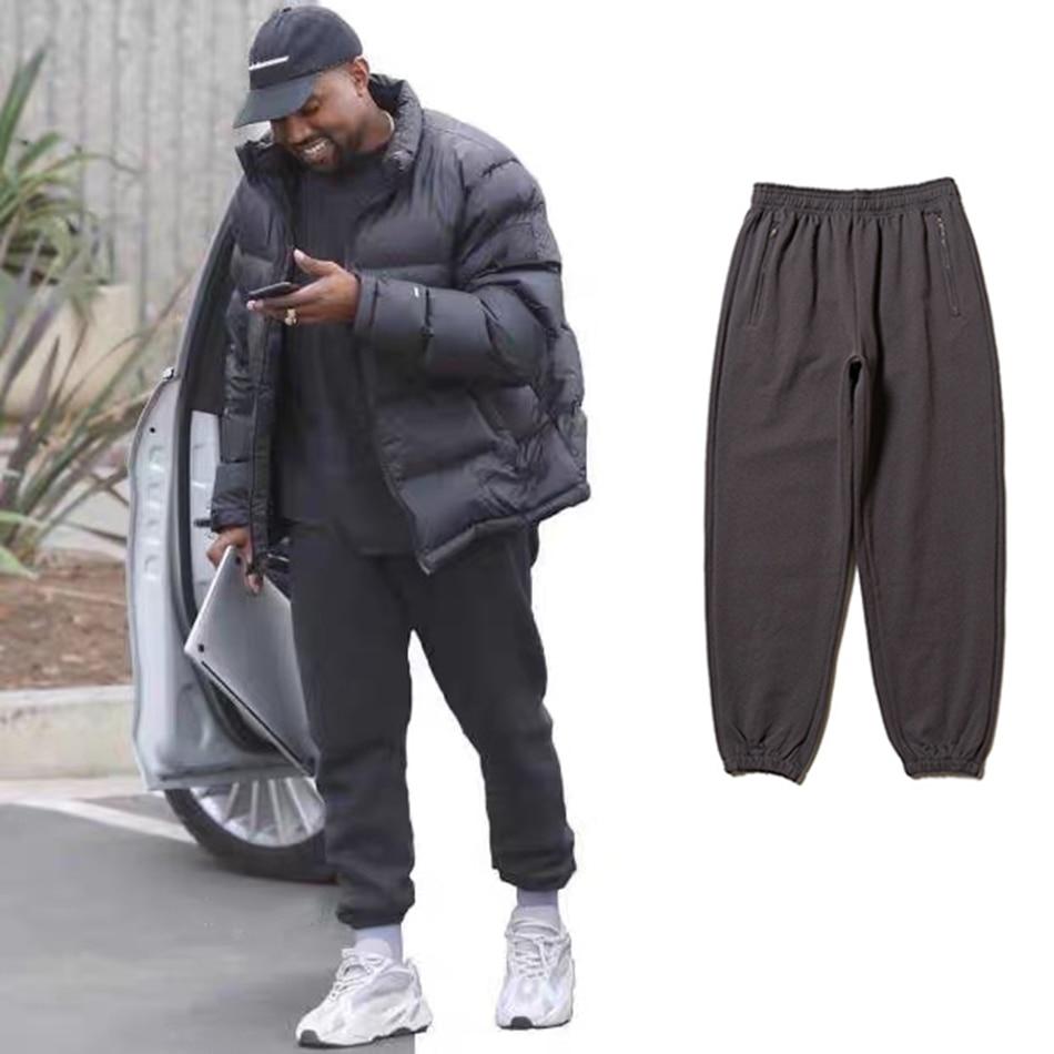 New Fashion Autumn Kanye West Loose Baggy Track Pants Drawstring Streetwear Casual Mens Pants Joggers Pantalon Homme Sweatpants