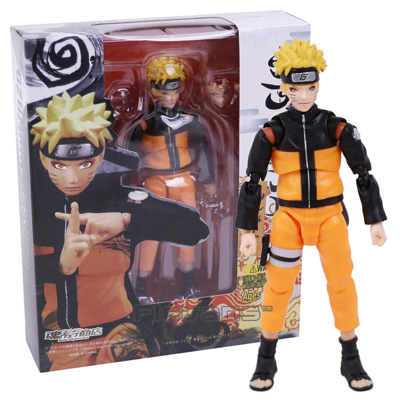 SHF Figuarts Naruto Shippuden Uzumaki Naruto PVC Action Figure Collectible Model Toy hot anime naruto 4th hokage namikaze 6 action figure collectible pvc model gift toy