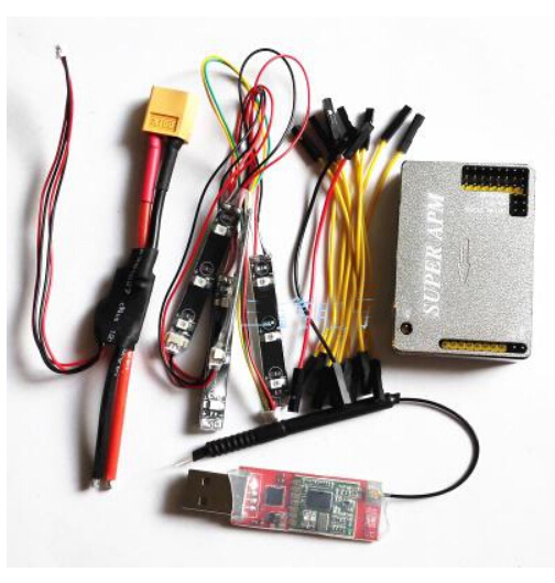 Super APM Flight Control with Aluminum Case Integrated OSD 915Mhz 3DR Tx with Power Module 915Mhz 3DR Receiver Combo for FPV minimosd mavlink osd atmega328 apm apm2 flight control board blue