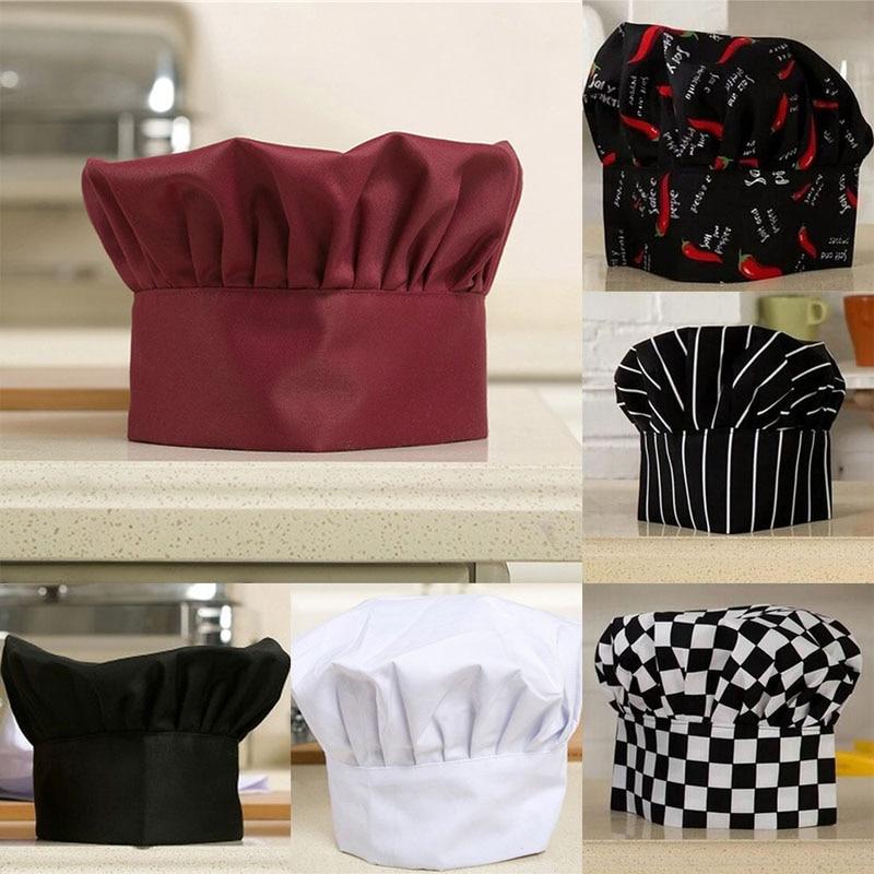 1Pcs Cook Adjustable Men Kitchen Baker Chef Elastic Cap Hat Catering Comfortable