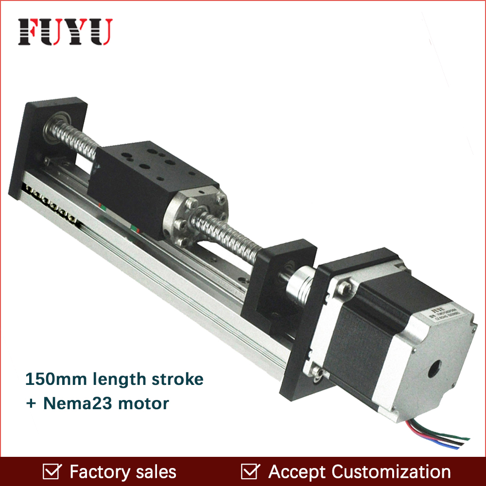 Free Shipping oem low price 40mm wide 150mm length linear guide rail with motor and ball screw for cnc high precision low manufacturer price 1pc trh20 length 1800mm linear guide rail linear guideway for cnc machiner
