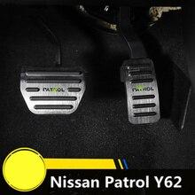 For Nissan Patrol Y62 2010 2011 2012 2013 2014 2015 2016 2017 2018 Aluminum AT Accelerator Gas Brake Pad Pedal Protectors