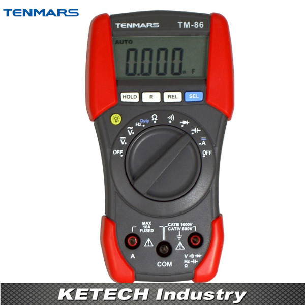 CAT IV 600V Digital Multimeter TENMARS TM86 digital multimeter tm86