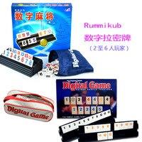 Candice guo plastik oyuncak Seyahat Taşınabilir Okey İsrail Mahjong Dijital Kurulu Oyunu bulmaca kurulu numarası doğum günü hediyesi 1 adet