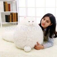 Kawaii Big Size Big White Cat Doll Plush Toys Comfortable Stuffed Plush Cat Pillow Cushion Girlfriend