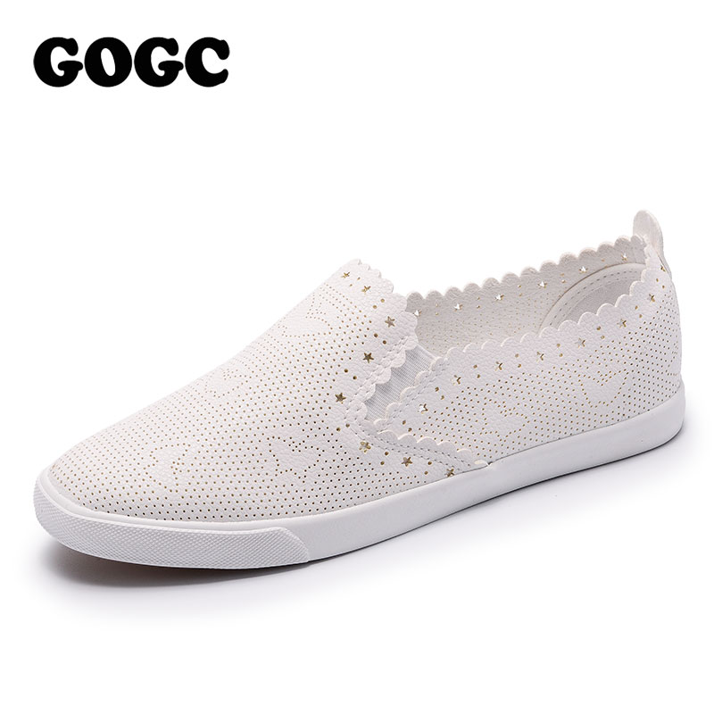 GOGC 2018 Slipony Women Shoes with Hole Breathable Women Flat Shoes Casual Shoes Women Sneakers Summer Spring footwear free shipping candy color women garden shoes breathable women beach shoes hsa21