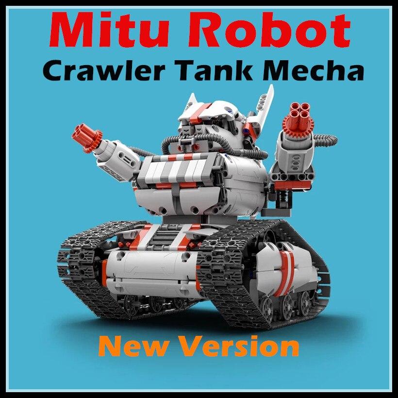 imágenes para 2017 Nueva Mitu Mecha Robot Tank Crawler Base Xiaomi Mitu Robot Crawler Tanque Versión Controll Por Smartphone Mihome