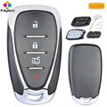 KEYECU замена Смарт-пульт дистанционного управления чехол для ключа автомобиля с 4 кнопками-FOB для Chevrolet Malibu Cruze Spark Cmaro 2016 17 18