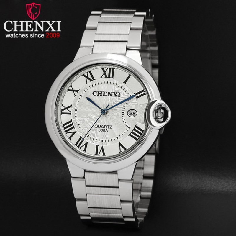 NATATE CHENXI Luxury Brand Business Watches Men Watch Slim Quartz Stainless steel The calendar Watch 2 Colors 1240 natate new popular men fashion quartz watch leisure business luxury chenxi brand stainless sports wristwatch 1240