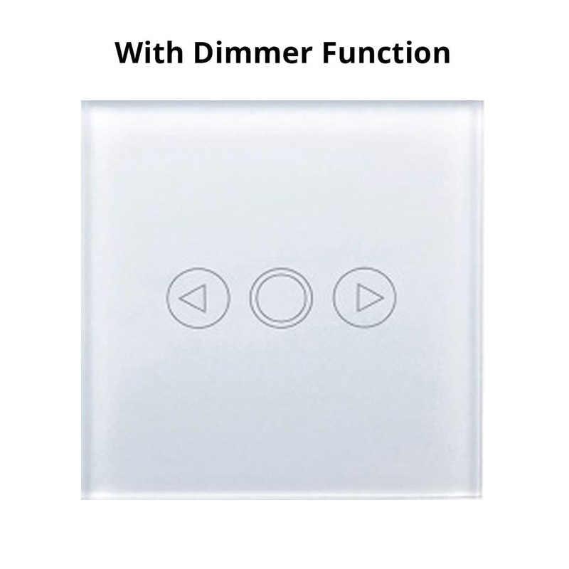 MiniTiger EU/UK Standard HA CONDOTTO LA luce Interruttore di Tocco del Sensore di Tocco Dimmer di Potere Della Parete di Tocco Interruttore della luce Dello Schermo di Tocco di Vetro pannello