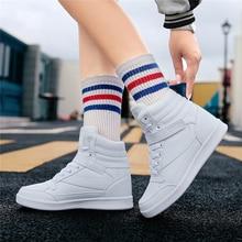 Белые мягкие модные осенне-зимние женские зимние ботинки брендов женский Lncrease в Высота удобная повседневная обувь Лидер продаж
