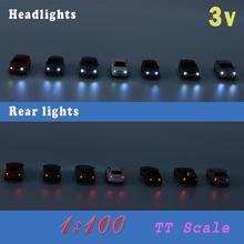 EC1003V 12 шт. 1:100 TT HO Весы Модель светильник ed автомобиль с 3 в светодиодный светильник для строительства макет