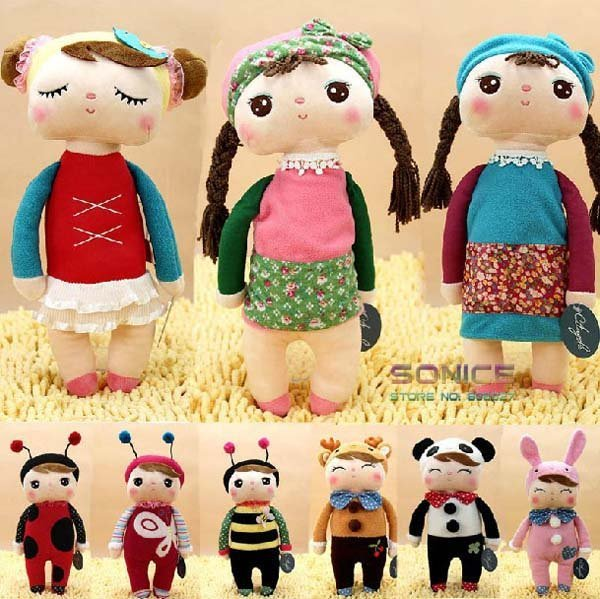 5pcs/lot Angela Plush Doll Metoo Stuffed Animals 30cm Rabbit Toys Baby Dolls with Boxes Children Christmas Gifts Free shipping