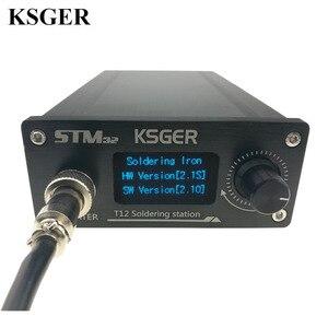 Image 1 - KSGER OLED Soldering Station T12 ILS Electronic Iron Tools STM32 2.1S Temperature Controller Handle Stand Holder 220V Welding