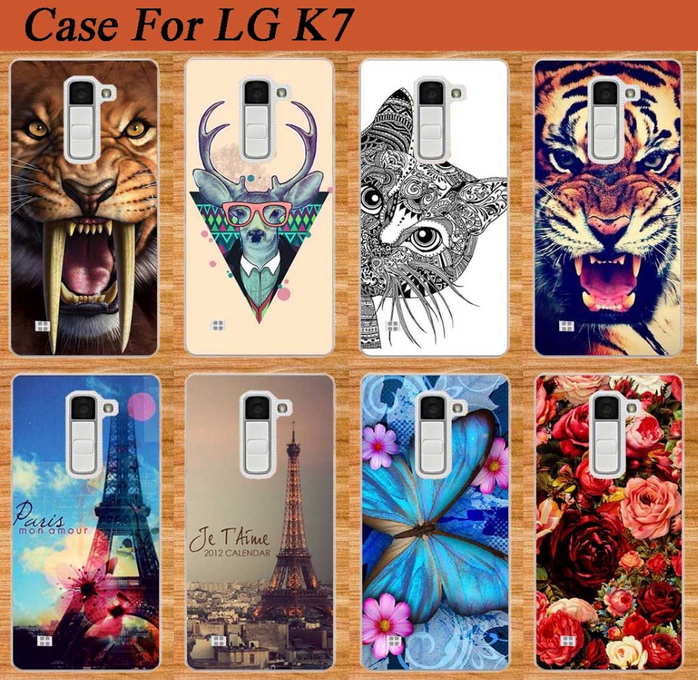 low priced 97a89 69542 US $1.27 36% OFF|14 Patterns Phone Case For LG K7 M1 Tribute 5 LTE 5.0