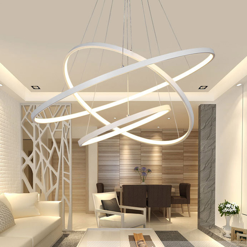 New Modern Led Chandelier For Living Room Bedroom Dining With Remote Control Lampadario Home
