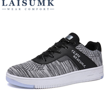 LAISUMK New Breathable Men Casual Shoes Mesh Sneakers Fashion Trainers For Flats Tenis Masculino
