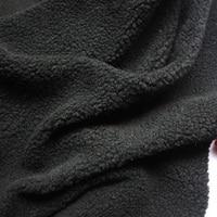 Черный берберский флис плюшевая ткань куклы ручной работы ткань подкладки мех ягненка 60