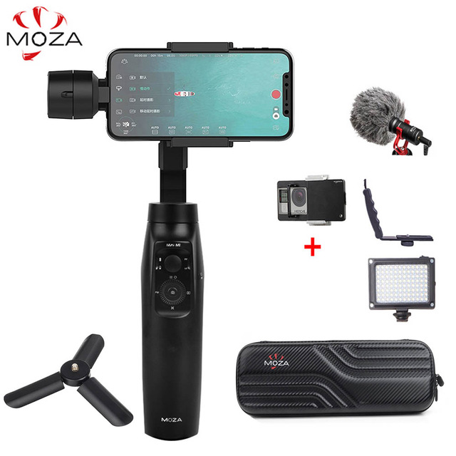 MOZA Mini Mi Mini-Mi 3-Axes De Poche Cardan Stabilisateur pour iPhone 8 Plus Samsung S9 Gopro PK zhiyun Lisse 4 DJI Osmo mobile 2