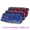 Wired 3 Color Backlit Gaming Illuminat Keyboard Switchable Backlight LED USB for Desktop PC Computer Laptop Tablet Free Shipping