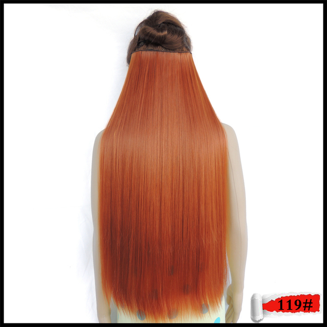 Japanese Fiber Mega Hair Extension Clip In Straight Synthetic