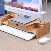 Computer Increased Shelf LCD Screen Cabinet Office Supplies Stationery Organizer Storage Rack Keyboard Shelf Sundries Rack