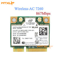 WTXUP pour Intel 7260 7260AC 7260HMW 2.4 & 5G 867M Bluetooth 4.0 Mini PCIe WiFi carte réseau sans fil(China)