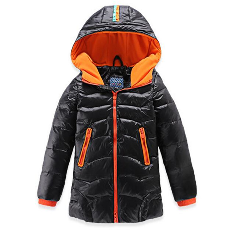 Boys Winter Down Jacket Children Warm Duck Down Coat Middle Length Style Thick and Warm Snow Outwear Clothes Boy Hooded Coat russia winter boys girls down jacket boy girl warm thick duck down