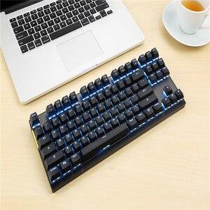 Image 4 - Motospeed Teclado mecánico inalámbrico GK82 2,4G, modo Dual, 87 teclas, mini teclado, retroiluminado con LED, receptor usb