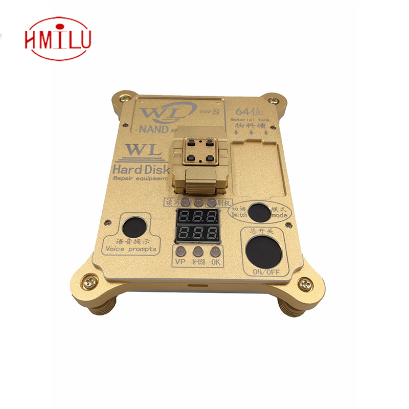 WL 64 Bit hard disk test repair instrument IC Chip Mainboard Nand Flash Programmer HDD Serial Number SN for iPhone 5S to 6 Plus 64 bit ic chip programmer machine repair mainboard nand flash hard disk hdd serial number sn for iphone 5s 6 plus ipad air 2 3