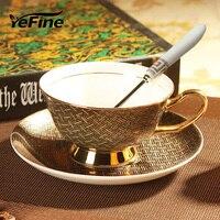 Yefine عالية الجودة الخزف أكواب القهوة خمر الأزياء الأوروبية نمط 2017 الكؤوس والصحون الخزفية رومانسية الإبداعية هدية