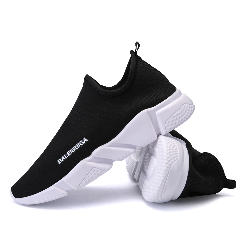 Sports & Entertainment Youth Boys Stylish Sneakers Big Size Mens Shoe Light Comfortable Couple Shoes Female Trend Breathable Running Shoes Weave Unisex