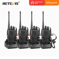 4 шт Портативный рация Retevis H777 UHF Hf трансивер двухстороннее радиостанции Communicator двусторонней радиосвязи рации H-777