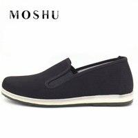 Women Men Casual Shoes Slip On Canvas Flat Shoes Unisex Easy Walking Chinese Kongfu Style Size