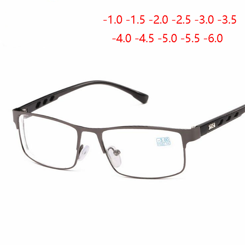 -1 -1.5 -2 -2.5 -3 -3.5 -4 To -6.0 Finished Myopia Glasses For Women Men Copper Frame Ultralight Students Nearsighted Glasses