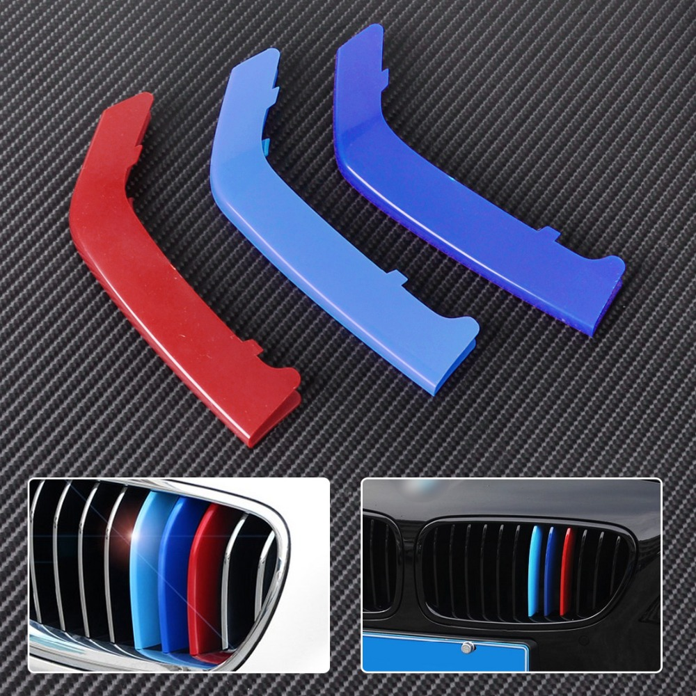 CITALL New M Color Sport Car Front Plastic Kidney Grill Bar Cover for BMW 3 Series 8 Bars Axis Only F30 2013 2014 2015