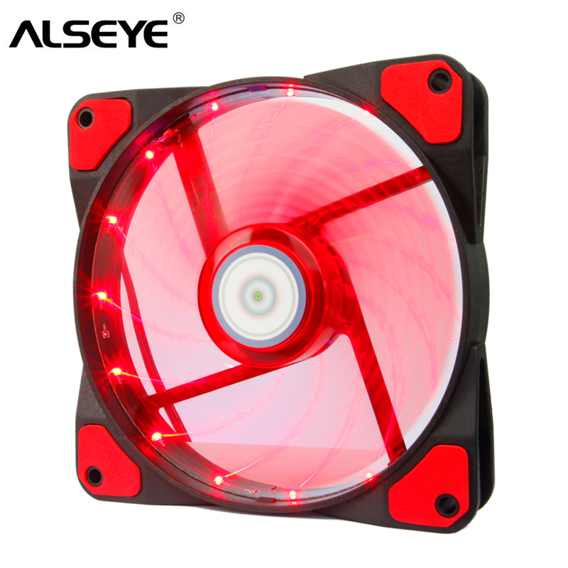 ALSEYE Computer Case Fan LED 120mm Cooling Fan Cooler 3-4pin 1300RPM 12v PC Cooling Fan gdstime 10 pcs dc 12v 14025 pc case cooling fan 140mm x 25mm 14cm 2 wire 2pin connector computer 140x140x25mm