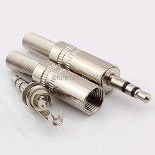 Бесплатный shipping3.5mm штекер RCA Аудио Разъем RCA аудио разъем 3.5 мм разъем для Стереонаушников Гарнитура Двойной Трек Наушники 10 шт./лот