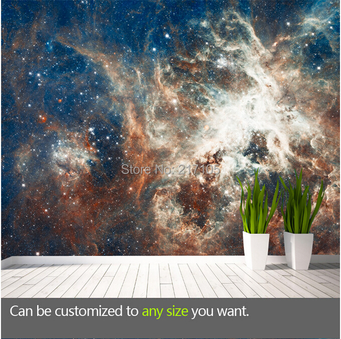 Custom large cosmic cloud wallpaper murals the Milky Way star 3D wall paper vinyl wallpaper for ceiling living room bedroom KTV custom ceiling wallpaper blue sky and white clouds murals for the living room apartment ceiling background wall vinyl wallpaper