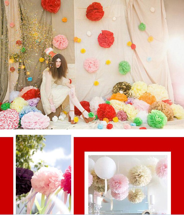 10 pcs diy tissue paper flower balls pom poms wedding hanging flower 10 pcs diy tissue paper flower balls pom poms wedding hanging flower balls birthday party home outdoor decortaion 25cm in artificial dried flowers from mightylinksfo