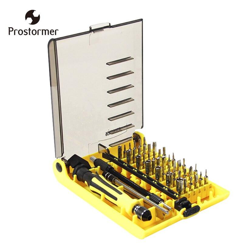 Prostormer 45in1 Multifonctionnel Précision Magnétique Tournevis À La Main Set Ménage Main Tool Set pour Téléphone PC Kit De Réparation Iphone