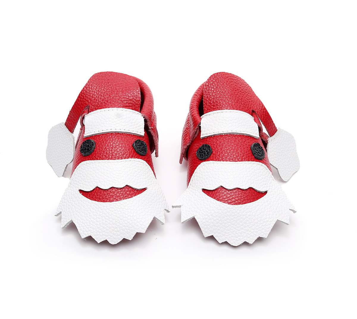 Santa Claus Baby Shoes Genuine Leather Baby Moccasins Cute Cartoon Toddler Shoes Christmas Gift